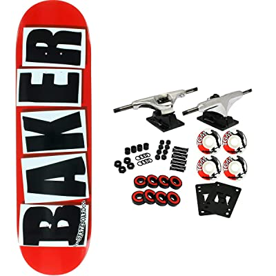 "Baker Skateboard Complete Brand Logo Red/Black 8.47"" : Sports & Outdoors"