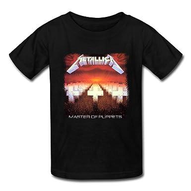1e4f5a5f8 Amazon.com: ZIYUAN Kid's Funny Metallica Master Of Puppets T-shirts ...