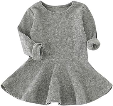 POLP Niña Vestidos de Fiesta Bautizo Princesa Bebé Camiseta ...