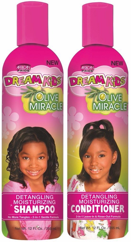 Dream African Pride Kids Olive Miracle Detangling Moisturizing Shampoo And Conditioner