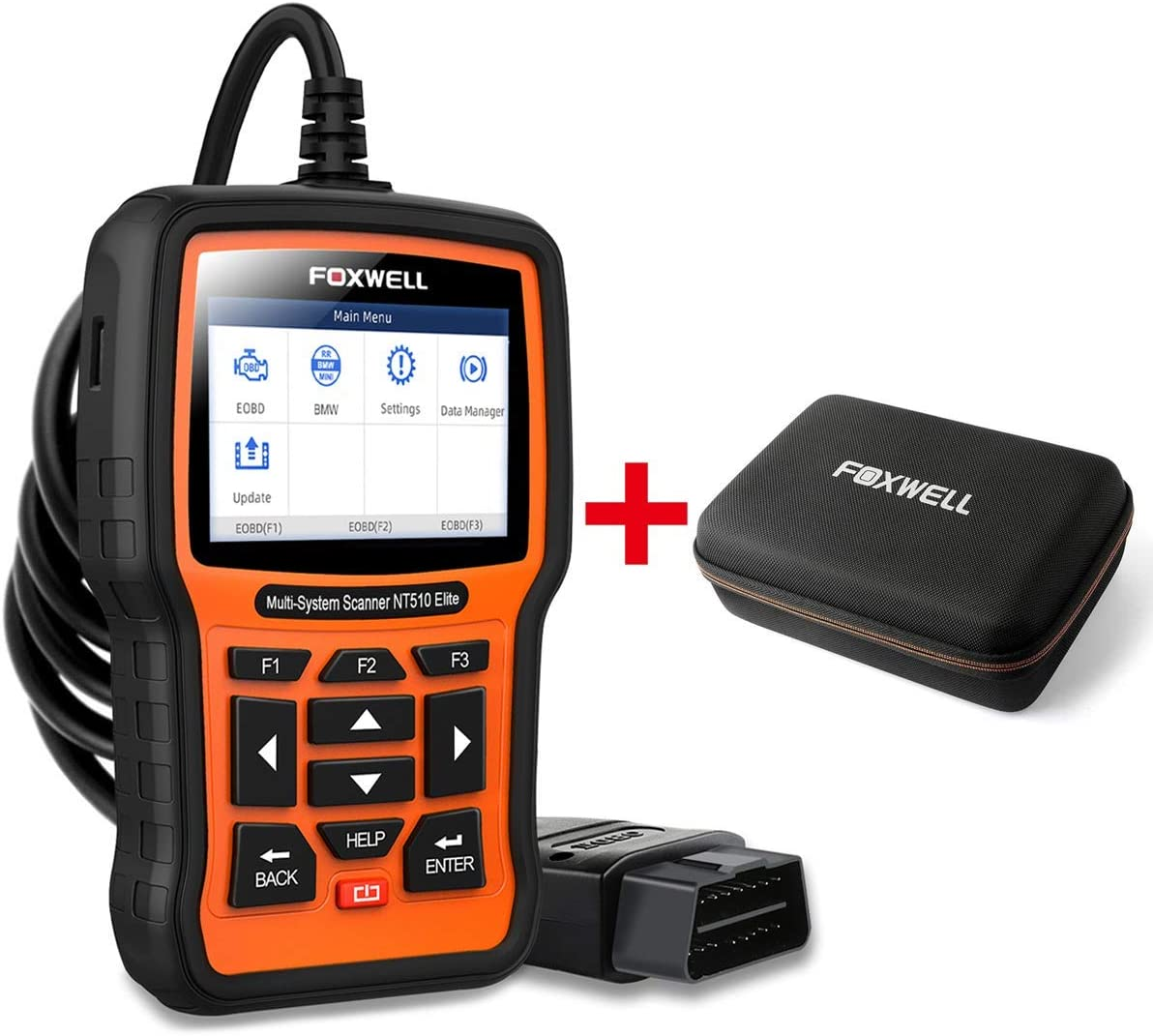 FOXWELL Car Full-System Diagnostic Tool NT510elite for BMW with EVA Case