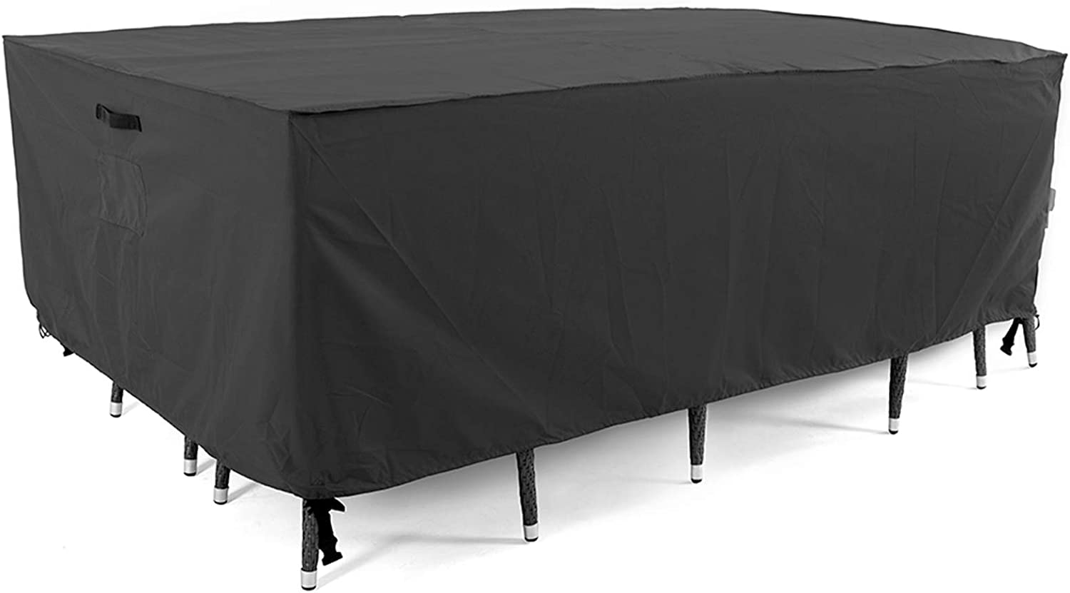 Tempera Patio Furniture Cover, Waterproof, Tear-Resistant, UV Resistant Outdoor Table, Sofa, Sectional Cover, Space Grey, 62x42 inches