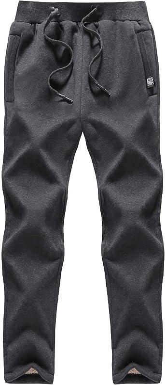 EKLENTSON - Pantalones de chándal con forro polar para hombre ...