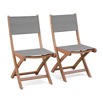 Amazon.de: Alice\'s Garden-Gartenstühle aus Holz mit ...