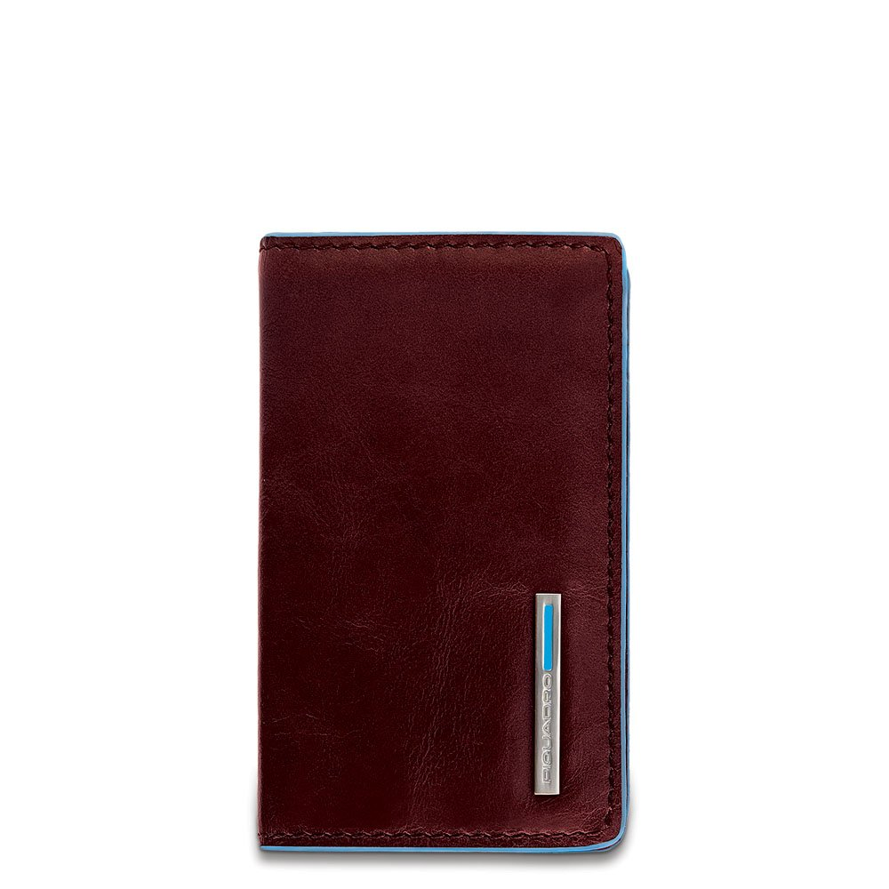 Piquadro Leather Business Card Holder, Mahogany, One Size by Piquadro