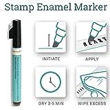 ImpressArt Metal Stamp Enamel Marker, Black Acrylic Ink
