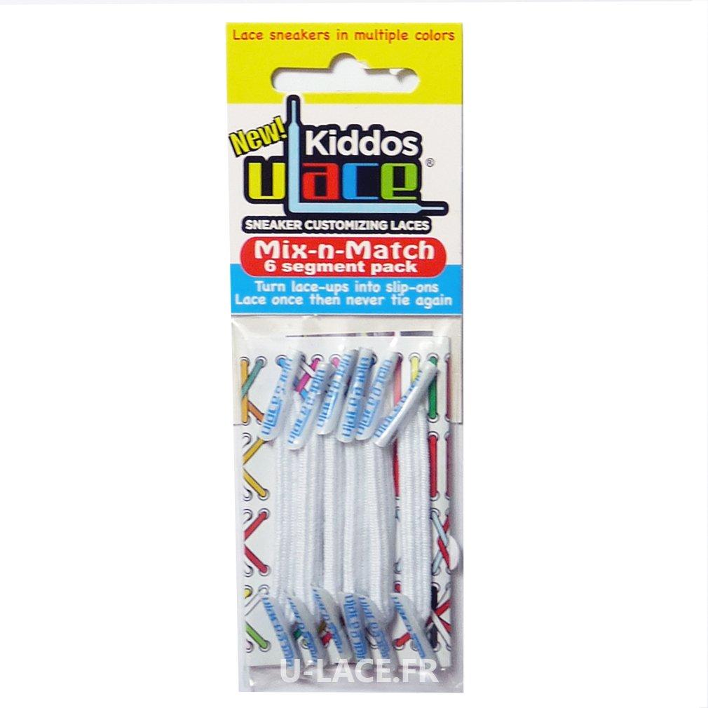 U-Lace Kiddos No-Tie Customized Sneaker Shoe Laces Mix & Match 6 pcs. - 1 Pack Per Shoe