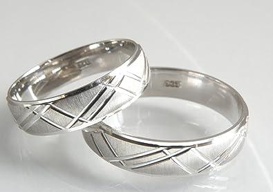 Eheringe weißgold ohne stein  Trauringe 585 Weißgold Eheringe ohne Stein CRG25: Amazon.de: Schmuck