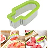 Fruit Slicer, Doinshop Creative Watermelon Slicer Ice Cream Popsicle Shape Melon Cutter Mold Tool (Green)