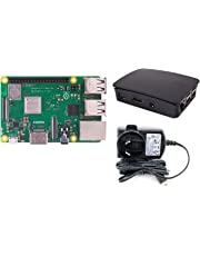 Raspberry Pi 3 Model B+ Official Case + Official 5.1v 2.5a Power Supply | Starter Pack | Brand New Release