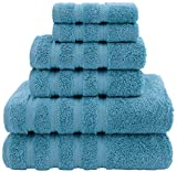 American Soft Linen Premium, Luxury Hotel & Spa Quality, 6 Piece Kitchen & Bathroom Turkish Genuine Cotton Towel Set, for Maximum Softness &...