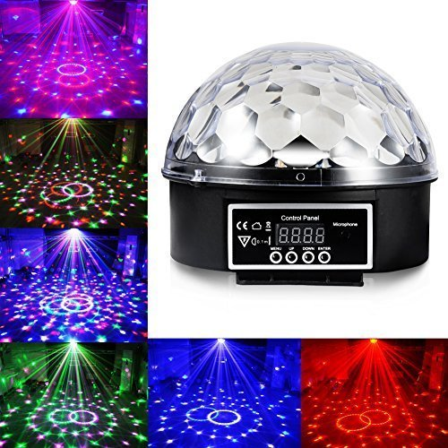 Cade 6 LED Color Changing Disco Dj Stage Lighting LED RGB Crystal Magic Ball Effect Light DMX Light KTV Party (Dmx Lighting Effect)