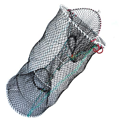 Drasry Crab Trap Bait Lobster Crawfish Shrimp Portable Folded Cast Net Collapsible Fishing Nets Fishing Accessories Black