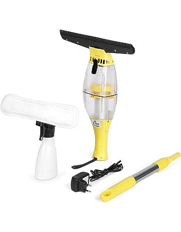 INTEY Aspirador limpiacristales, Aspirador de Mano sin Cable con Barras de Extensión, Duración Larga