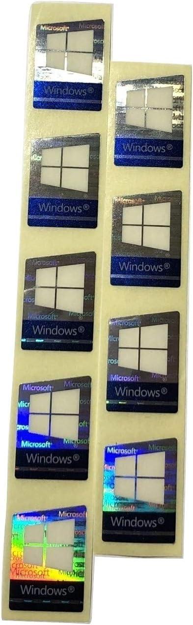 Windows 10 Pro Original Hologram Laser Sticker 17mm x 23mm Color Changing