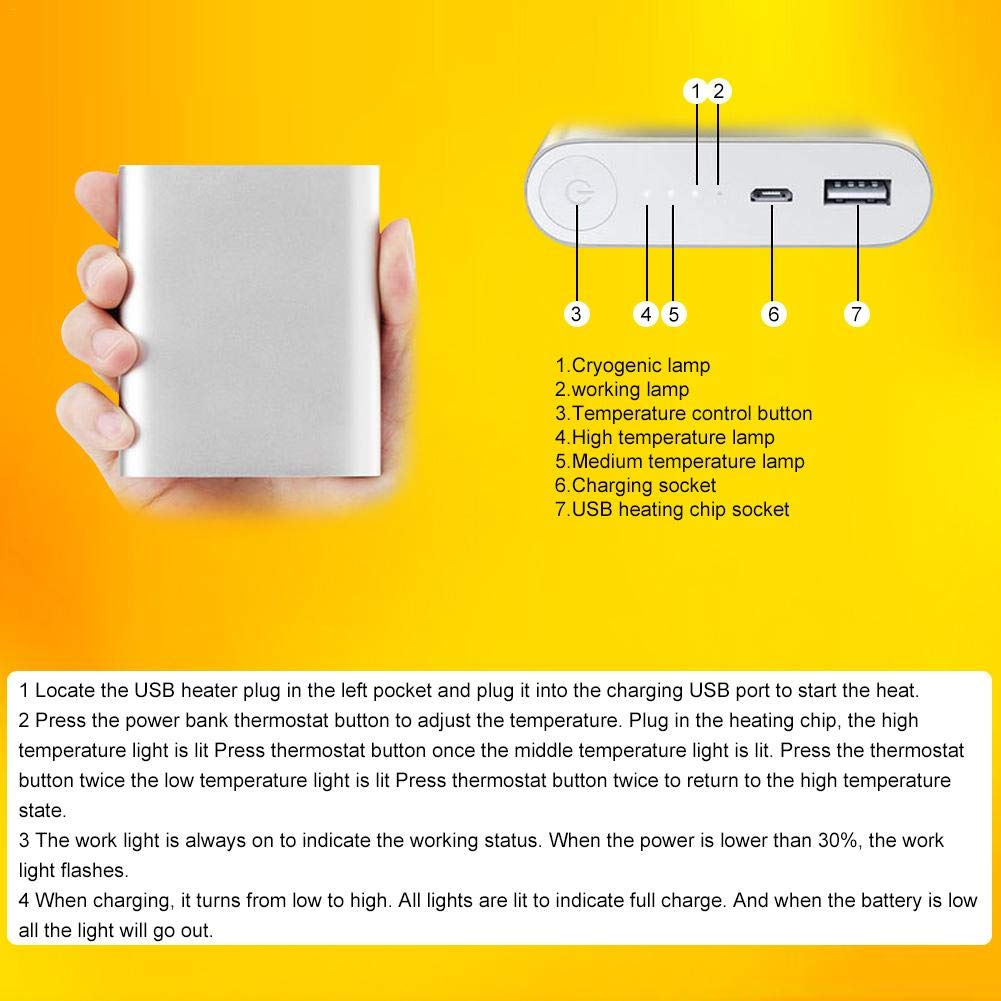 Bulary Outdoor Thermostat Elektrische USB Lade Hosen Winter Smart Thermostat Thermostat Smart Elektrische Heizung Hosen Beheizte Kleidung 0e7d56