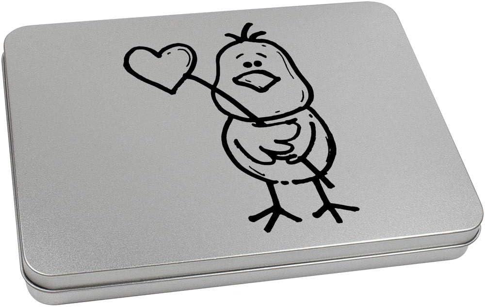 TT00104728 Azeeda 110mm x 80mm Vogel Aufbewahrungsbox der Herz h/ält Blechdose