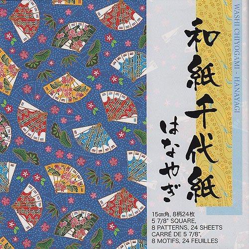 Aitoh ICY200 Ichimatsu Yuzen Chiyogami Origami Paper, 5.875-Inch by 5.875-Inch, 40-Pack