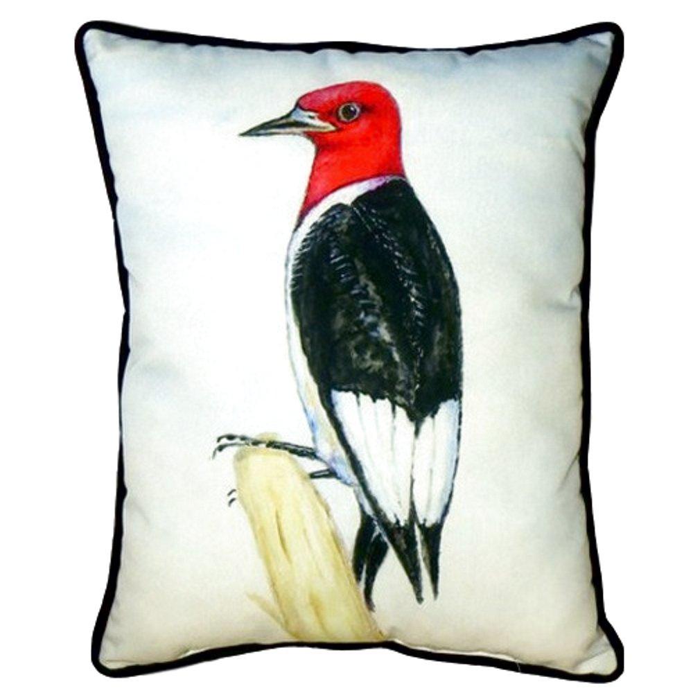 Betsy Drake SN310 Redheaded Woodpecker Pillow,,11'' X14''