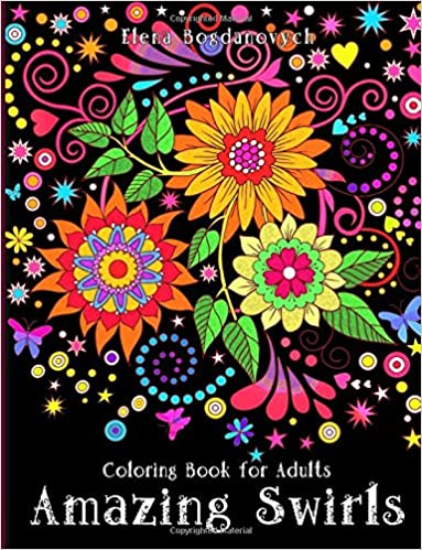 amazon com coloring book for adults amazing swirls 9781519703644