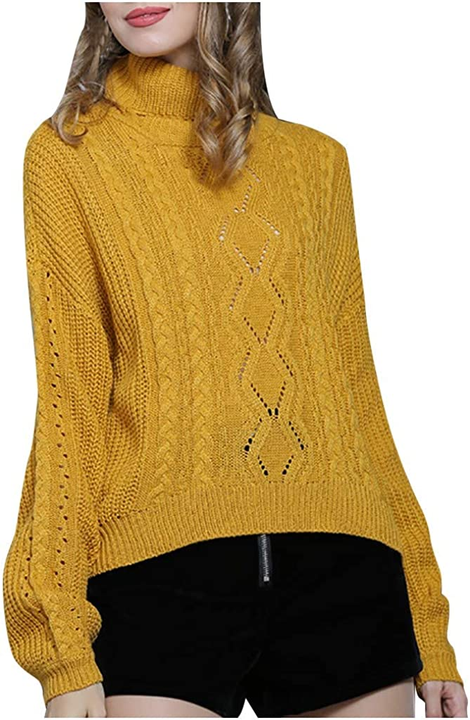Meikosks Womens Knitted Sweaters Solid Color O Neck Long Sleeve Blouses Tops Winter Pullover Shirt
