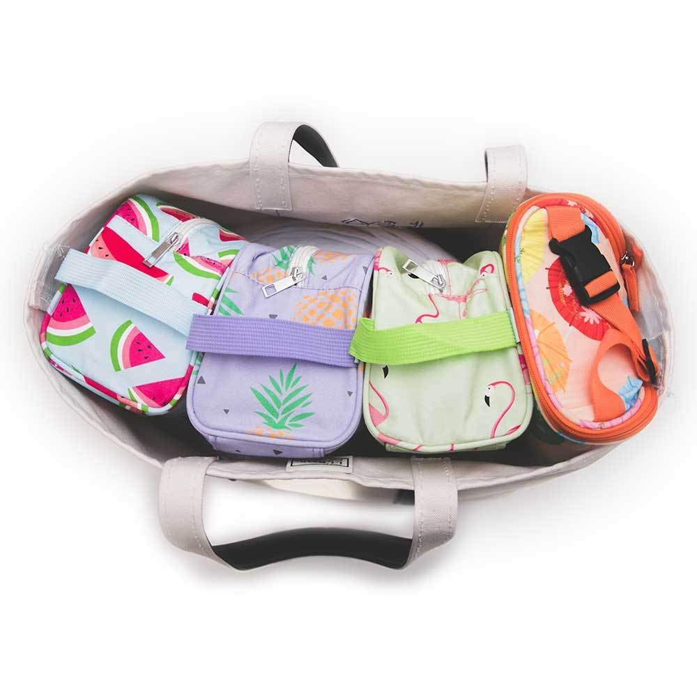Florida Keys Easy Baby Diaper Bag Organizer Starter Set of 4 Pouches Insert Cubes Large for Backpack Bags Waterproof Baby Boy Girl 100/% Cotton Baby Shower Gift Tote Travel New Moms 2020 Gift