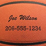 Personalized Basketball - Baden Game Approved Basketball - Your Name and Phone Permanently Laser Marked - 28.5' 'Team' Ball with Script Font