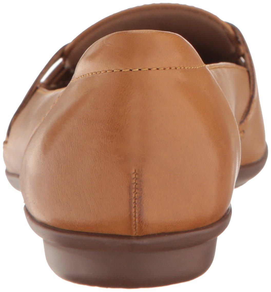 CLARKS Women's Gracelin Gemma Flat B01LWDYYL9 7 W US|Tan Leather