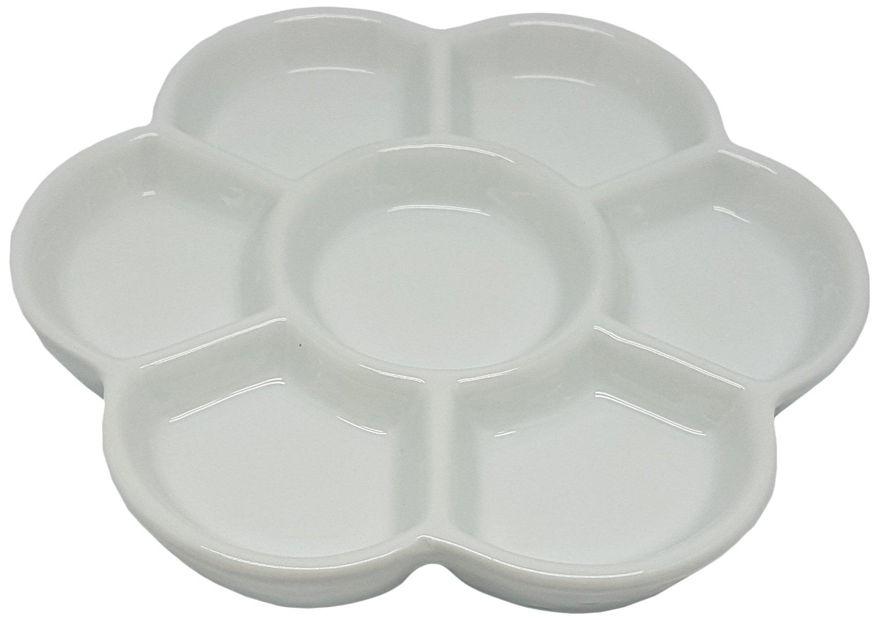 Porcelain 7 Well Daisy Mixing Tray 6''