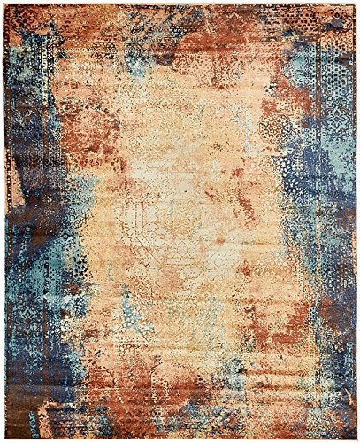 Unique Loom Ethereal Collection Brick Red 8 x 10 Area Rug (8' x (Brick Red Rug)