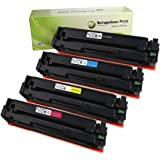 Scrupulous Print Compatible High Yield Toner Cartridge Replacement for HP201X, CF400X, CF401X, CF402X, CF403X, for use with HP M277dw, M252dw, M277n, M252n (Black, Cyan, Magenta, Yellow, 4-Pack)