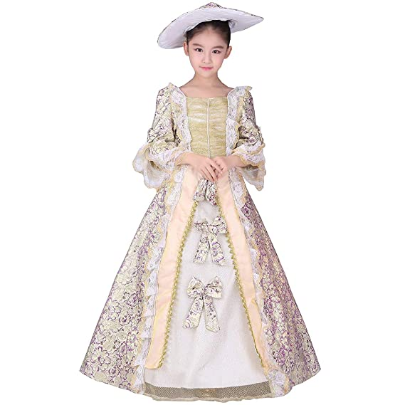 Masquerade Ball Clothing: Masks, Gowns, Tuxedos KUFEIUP Renaissance Medieval Gothic Victorian Palace Costume Layered Dress For Girls $59.99 AT vintagedancer.com