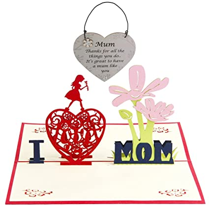 Día De La Madre Cumpleaños 3D Pop Up Saludo Gracias Tarjeta ...