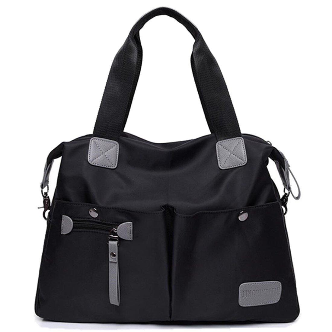 YouNuo Women's Casual Water-resistant Nylon Handbag Portable Lightweight Top Handle Totes Shoulder Bags