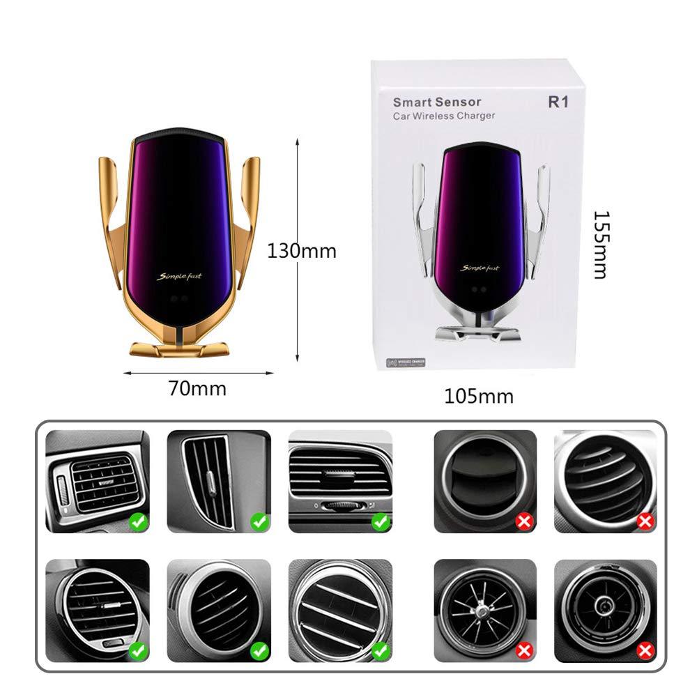 10W per Galaxy Note 9//S9//S8//Note 8 Hinyx Caricatore Wireless Auto 5W per Huawei Mate 20 Pro Qi Caricabatterie Ricarica Rapida Adatto Supporto 7.5W per iPhone XR//XS//XS//Max//X//8//8 Plus
