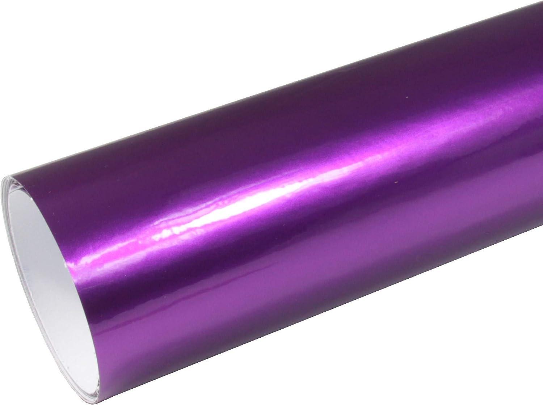 Rapid Teck 8 55 M Autofolie Serie Z560 Candy Purple Explosion Hochglanz 1m X 1 52m Lila Selbstklebende Premium Car Wrapping Glanz Folie Mit Luftkanal Baumarkt