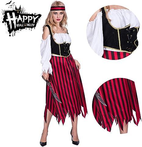 RISILAYS Disfraz De Lady De Halloween, Disfraz De Pirata De Moda ...