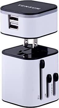 Tensun Travel Plug Travel Charger Adapter