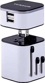 Tensun Travel Plug Travel Charger Adapter