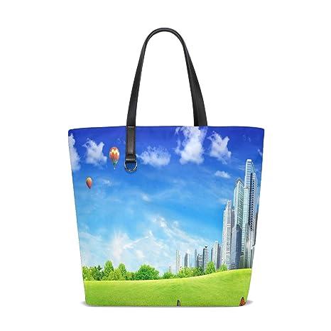 Amazon.com | Nature_Summer Tote Bag Purse Handbag Womens Gym ...