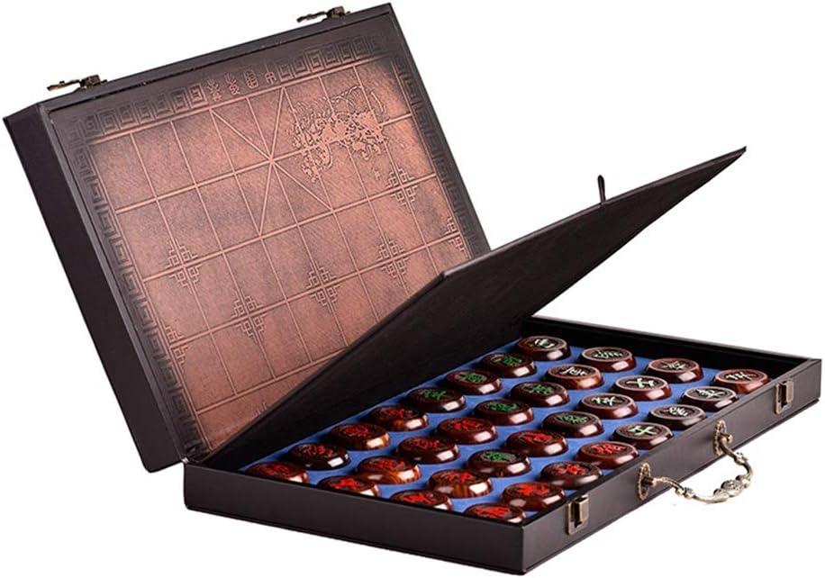 中国のチェス翔チー 中国のチェスXiangqi木製チェッカーゲーム折りたたみ式中国ローズウッドチェスセット高級ギフト お子様用の大人旅行セット (色 : As picture, サイズ : 185mmx220mmx20mm)