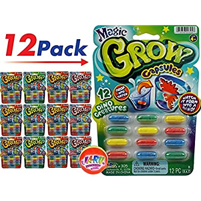 JA-RU Magic Grow Capsules (12 Packs 144 Capsules) Best Growing Animals Dinosaurs Capsules Bath Toys for Kids. and 1 Bouncy Ball. Bulk Supply. 305-12p: Toys & Games