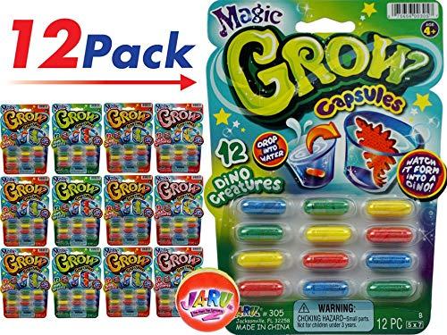 JA-RU Magic Grow Capsules (12 Packs) and 1 Bouncy Ball Best Growing Capsules for Kids. Bulk. 305-12p