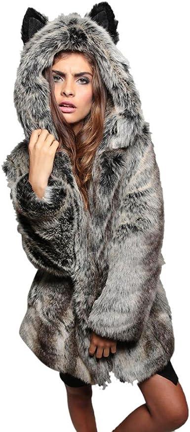 Sweater Vest Women Button Up,Women Winter Warm Faux Fur Coat Hooded Thick Warm Slim Long Jacket Overcoat Pandaie Womens ..