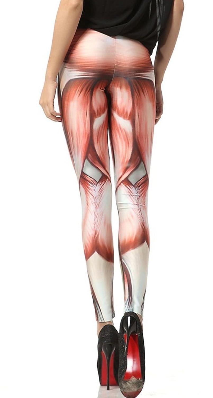 Amazon.com: BadAssLeggings Women\'s Muscle Anatomy Leggings XL: Clothing