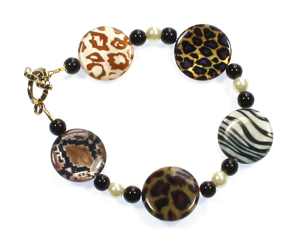 Style-ARThouse Take Me on a Safari! Animal Print Bracelet, 8 Inches