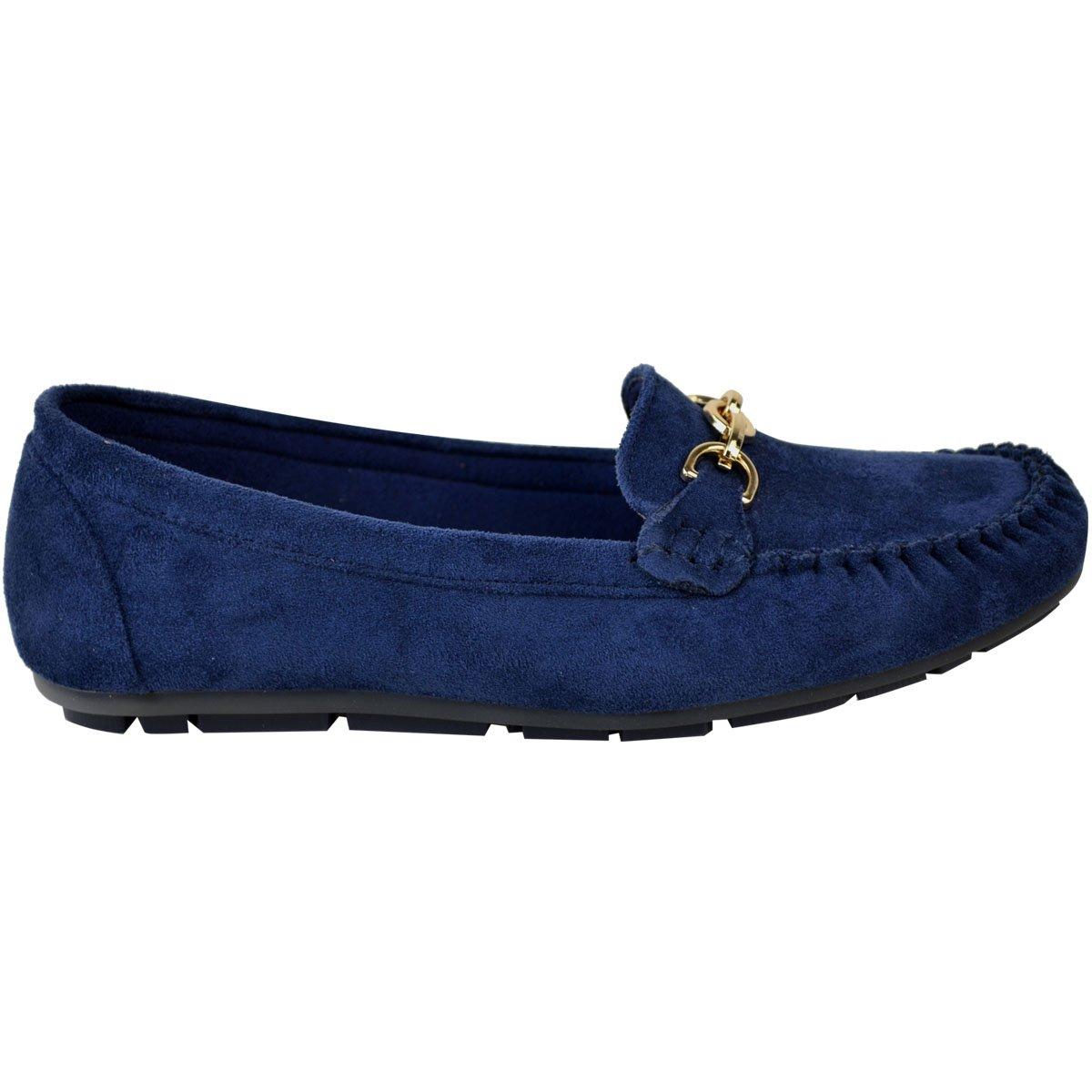 Fashion Thirsty Heelberry para Mujer de Niña Black Plano Mocasines Zapatas Conducir Mocasin Zapatillas Colegio Trabajo Oficina: Amazon.es: Zapatos y ...