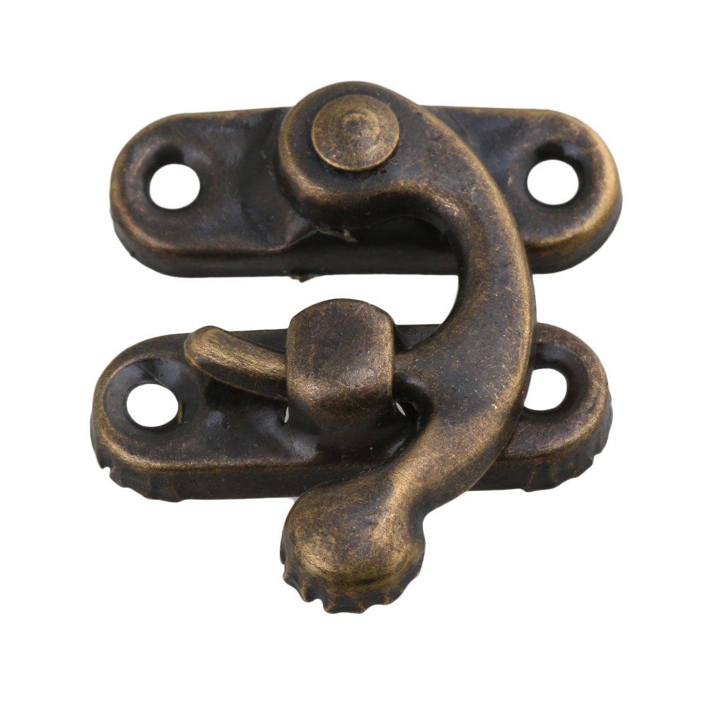 BQLZR Bronze Antike Vintage Eisen Vorh/ängeschloss Haken Horns Jewelry Box Schlie/ße Packung mit 8
