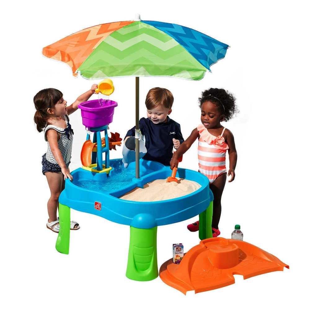 ステップ2 BeachsideスプラッシュSand and Water Table with Umbrella B071V8YMF9