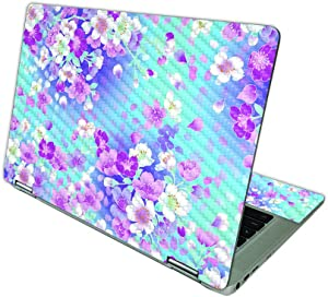 MightySkins Carbon Fiber Skin Compatible with HP Chromebook x360 14 (2021) - in Bloom | Protective, Durable Textured Carbon Fiber Finish | Easy to Apply, Remove, and Change Styles | Made in The USA